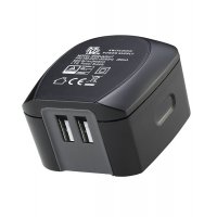 2.4A Ac/DC USB Charger with 2 USB Outlets with 4 Chargeable Input Plugs