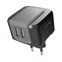 2.4A AC/DC USB Charger with 2 USB Outlets