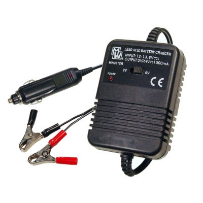 1000mA Car Use Lead Acid Battery Charger for 2V/6V Batteries